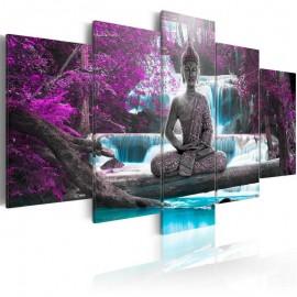 Cuadro - Cascada y Buda
