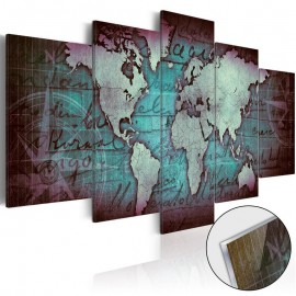 Cuadro acrílico - Acrylic prints – Bronze map II
