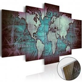 Quadro acrílico - Acrylic prints – Bronze map II