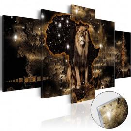 Quadro acrílico - Golden Lion [Glass]