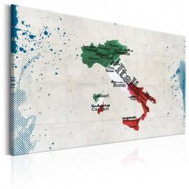 Cuadro - Map: Italy