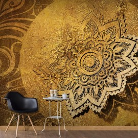 Papel de parede autocolante - Golden Illumination