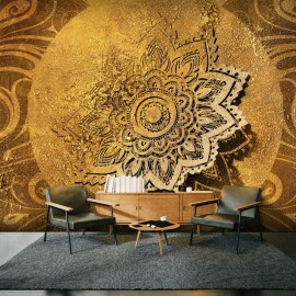 Papel de parede autocolante - Golden Illumination II