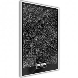 Pôster - City Map: Berlin (Dark)