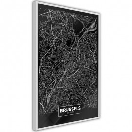 Póster - City Map: Brussels (Dark)