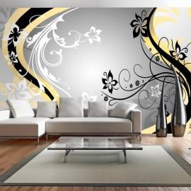 Papel de parede autocolante - Art-flowers (yellow)