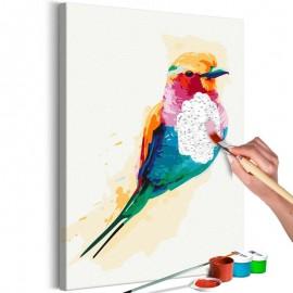Cuadro para colorear - Exotic Bird