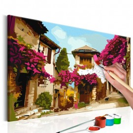 Quadro pintado por você - Mediterranean Town