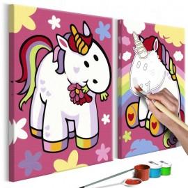 Cuadro para colorear - Unicornios