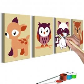 Quadro pintado por você - Forest Animals