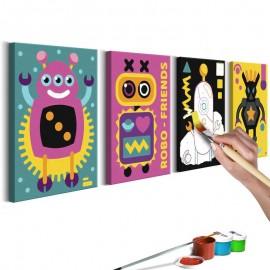 Quadro pintado por você - Robots