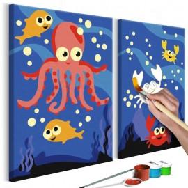 Quadro pintado por você - Ocean Animals