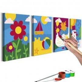 Quadro pintado por você - Four Seasons