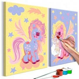 Quadro pintado por você - Magical Unicorns