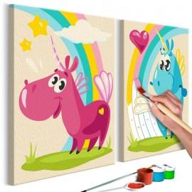 Quadro pintado por você - Sweet Unicorns