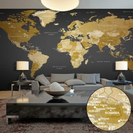 Fotomural autoadhesivo - World Map: Modern Geography II