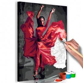 Cuadro para colorear - Red Dress