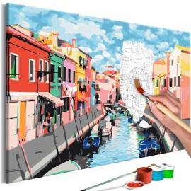 Cuadro para colorear - Houses in Burano