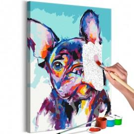 Cuadro para colorear - Bulldog Portrait