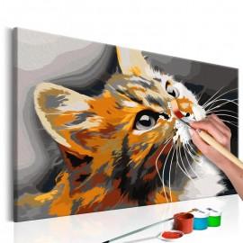 Cuadro para colorear - Gato naranja