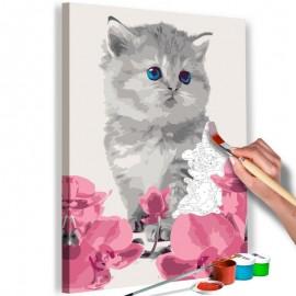 Cuadro para colorear - Gatito