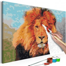 Quadro pintado por você - Lion