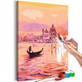 Cuadro para colorear - Gondola in Venice