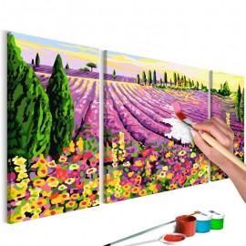 Quadro pintado por você - Lavender Field