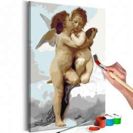 Cuadro para colorear - Ángeles (amor)