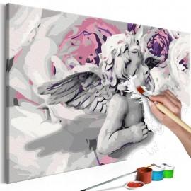 Quadro pintado por você - Angel (Flowers In The Background)