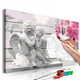 Quadro pintado por você - Angels (Pink Orchid)