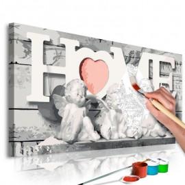 Cuadro para colorear - Ángeles (Home)