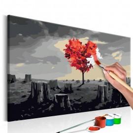 Quadro pintado por você - Heart-Shaped Tree