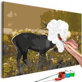 Cuadro para colorear - Deer on Rut