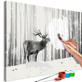 Cuadro para colorear - Deer in the Snow