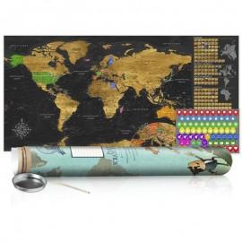 Mapa de raspar - Golden Map - Poster (English Edition)