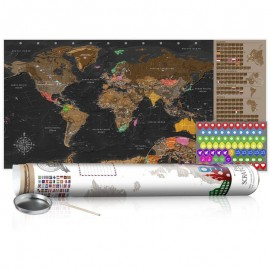 Mapa de raspar - Brown Map - Poster (English Edition)