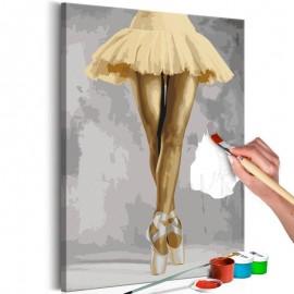 Quadro pintado por você - Yellow Ballerina
