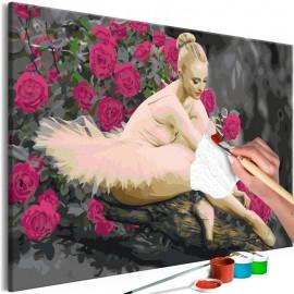 Cuadro para colorear - Rose Ballerina