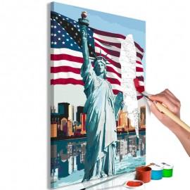 Cuadro para colorear - Proud American