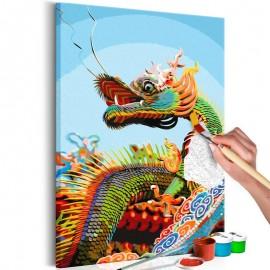 Quadro pintado por você - Colourful Dragon