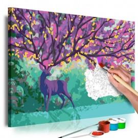 Cuadro para colorear - Purple Deer