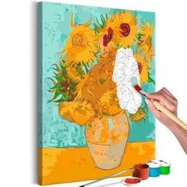 Cuadro para colorear - Van Gogh's Sunflowers