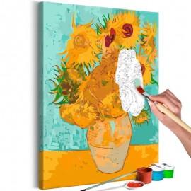 Quadro pintado por você - Van Gogh's Sunflowers