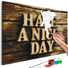 Cuadro para colorear - Have a Nice Day