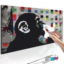 Quadro pintado por você - Thoughtful Monkey