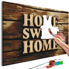 Cuadro para colorear - Wooden Home