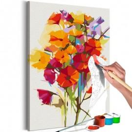 Quadro pintado por você - Summer Flowers