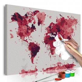 Cuadro para colorear - Watercolor Map