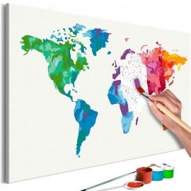 Quadro pintado por você - Colours of the World